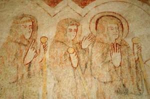 Retour de Saint-Méen au monastère, Chapelle du paradis, Abbaye de Saint-Méen