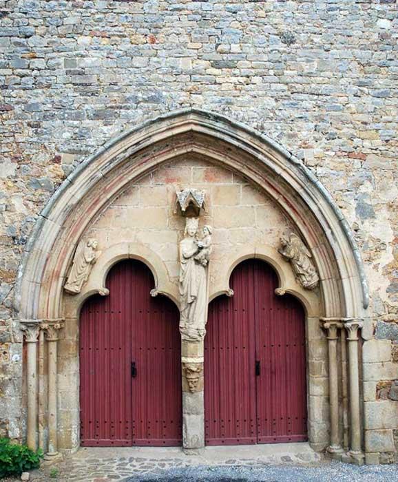 Abbaye De Paimpont - Portail Du XIIIème Siècle