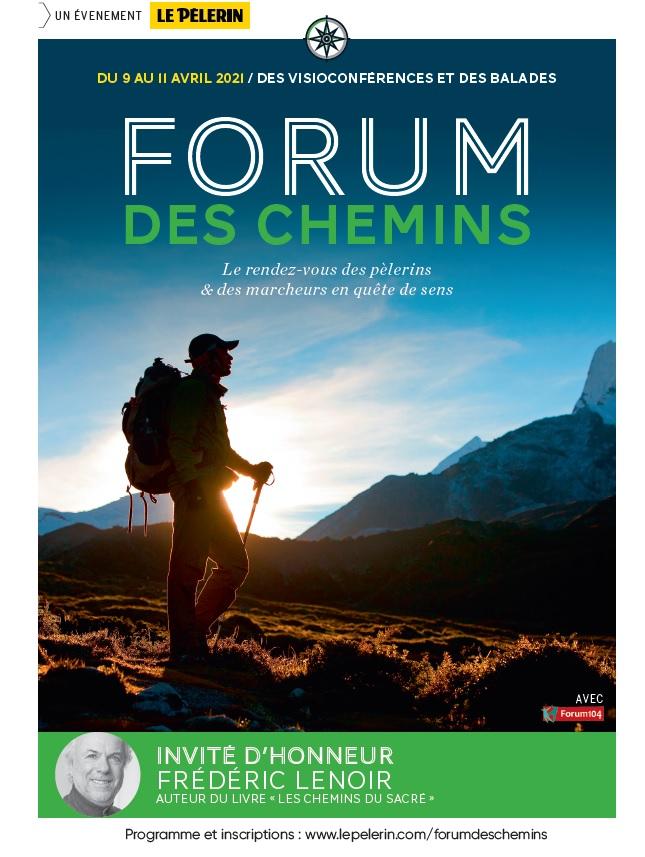 Forum des Chemins du 9 au 11 avril 2021